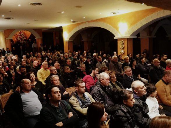 UNA STRAORDINARIA PARTECIPAZIONE A PAOLA A SOSTEGNO DI DI NATALE